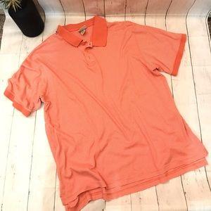 L.L. Bean polo 265874 Sz large orange stripe